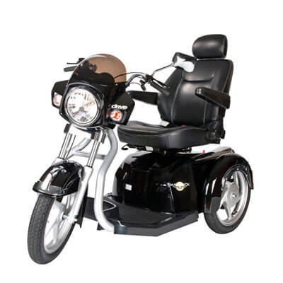 Drive Medical Maverick Executive Three Wheel Power Scooter, 22 in Seat