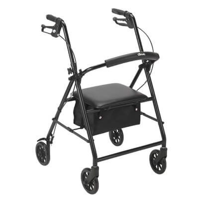 Drive Medical Rollator with 6 in Wheels Black - R800BK