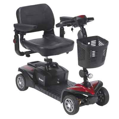 Drive Medical Scout DST 4-Wheel Travel Scooter scoutdst4