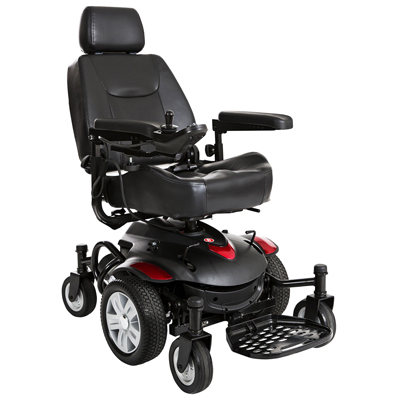 Drive Medical Titan AXS Mid-Wheel Power Wheelchair 16x18 Captain Seat TITANAXS-1618CS