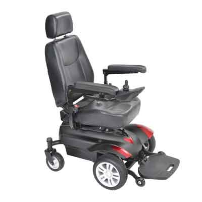 Drive Medical Titan X23 Front Wheel Power Wheelchair Vented Captain's Seat 18 x 18
