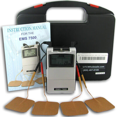 Roscoe Medical EMS-7500 Digital Dual Channel EMS Unit 3 Mode Portable Muscle Stimulator  DE7502
