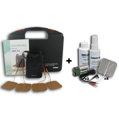 Roscoe Medical EMS 5.0 Portable Muscle Stimulator plus Accessory Kit