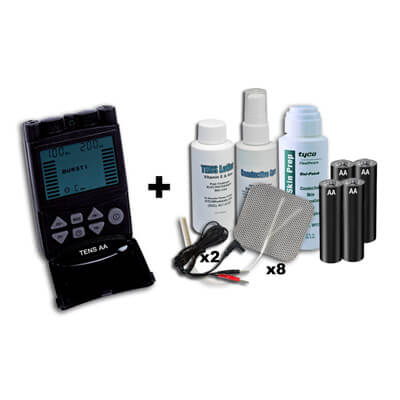 TENS-AA TENS Unit - 5 Mode DA1812 - Plus Accessories Kit