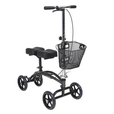 Drive Medical Dual Pad Steerable Knee Walker with Basket Model 796