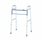 Dual Release Folding Walker Adult Deluxe Aluminum 300 lbs. 32 to 39 Inch