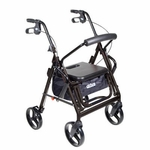 Drive Medical Duet Black Transport Wheelchair Rollator Walker Model 795bk