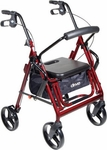 Drive Medical Duet Blue Transport Wheelchair Rollator Walker Model 795b