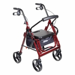 Drive Medical Duet Burgundy Transport Wheelchair Rollator Walker Model 795bu
