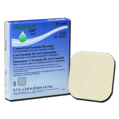 DuoDERM CGF Sterile Wound Dressing 4 x 4 in Square (20/Bx)