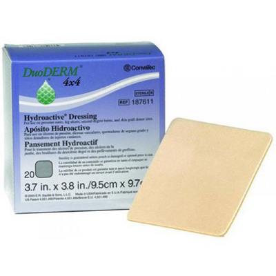 DuoDERM Hydroactive Hydrocolloid Dressing 4 x 4 in Square Sterile