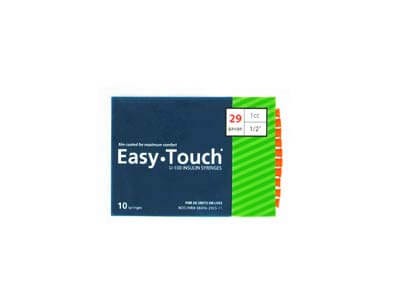 Easy Touch 29 Gauge 1 cc 1/2 in Insulin Syringes - 10 ea Model 829155