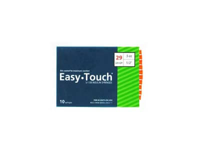 Easy Touch 29 Gauge 0.5 cc 1/2 in Insulin Syringes - 10 ea Model 829555