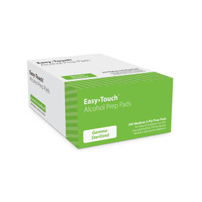 Easy Touch Medium 2-ply Alcohol Pads - 200 Swabs