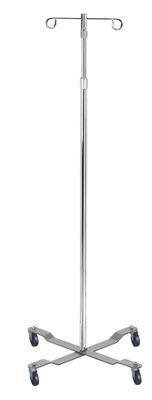 Drive Medical Economy Removable Top Chrome I. V. Pole 13033