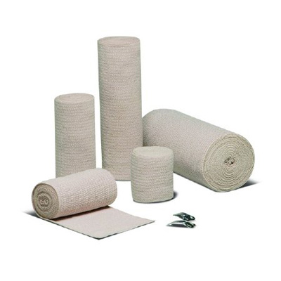 Elastic Bandage REB LF 3 Inch X 5 Yard Standard Compression Clip Detached Closure Tan NonSterile