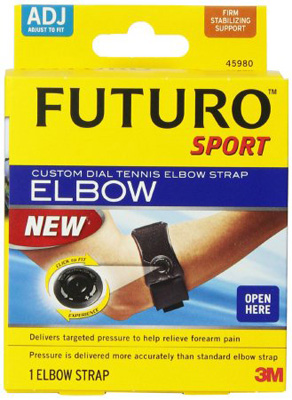 Elbow Strap Futuro Adjustable Hook and Loop Closure Tennis Left or Right Elbow