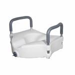 Drive Medical Elevated Raised Toilet Seat with Removable Padded Arms rtl12027ra
