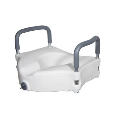 Drive Medical Elevated Raised Toilet Seat with Removable Padded Arms Model rtl12027ra