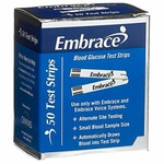 Embrace Blood Glucose Test Strips, 50ct