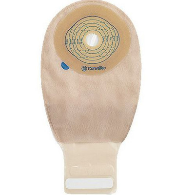 Esteem + Ostomy Pouch One-Piece System 12 in Length 13/16 to 2-3/4 in Stoma Drainable Trim to Fit - 716721