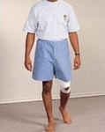 Exam Shorts Tidi Large Blue SMS NonWoven Fabric Adult Disposable