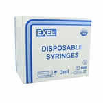 Exel 26107 3cc Syringe/Needle Combination with Luer-Lock Tip - 21 Gauge x 1 1/2 in 100 count