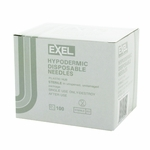 Exel 26400 Hypodermic Needle - 27 Gauge x 1/2 in 100 count