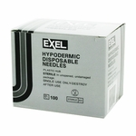 Exel 26411 Hypodermic Needle - 22 Gauge x 1 in 100 count