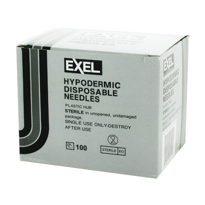 Exel 26412 Hypodermic Needle - 22 Gauge x 1 1/2 in 100 count