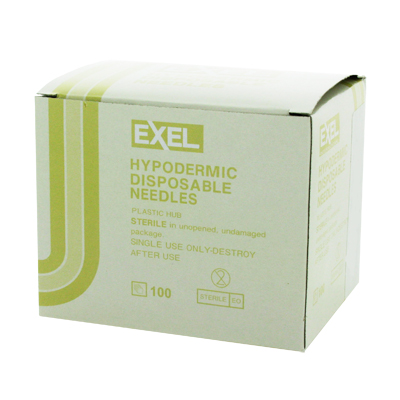 Exel 26438 Hypodermic Needle - 19 Gauge x 1 1/2 in 100 count