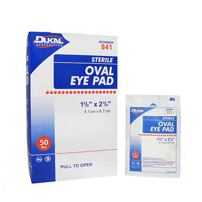 Eye Pad DUKAL Cotton 1-5/8 X 2-5/8 Inch Sterile