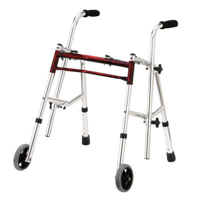 Drive Medical Flame Red Junior Glider Walker 10222frd-1