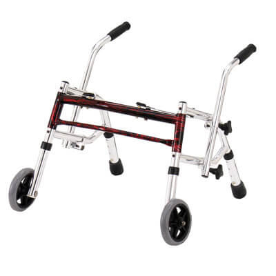 Drive Medical Flame Red Pediatric Glider Walker 10221frd-1