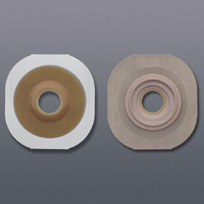 FlexTend Colostomy Barrier Pre-Cut, Extended Wear Tape 2-1/4 in Flange Red Code Hydrocolloid 1-1/8 in Stoma