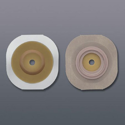 FlexTend Colostomy Barrier Trim to Fit, Extended Wear Tape 2-1/4 in Flange Red Code Hydrocolloid Up to 1-1/2 in Stoma