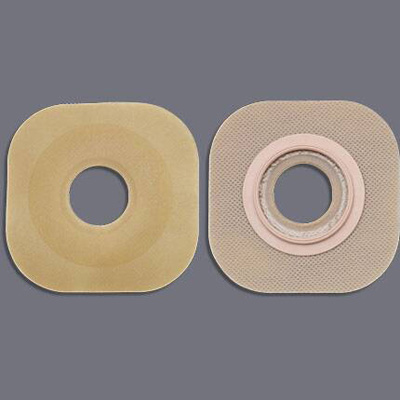 FlexWear Colostomy Barrier Pre-Cut, Standard Wear Without Tape 2-1/4 in Flange Red Code Hydrocolloid 1-3/8 in Stoma