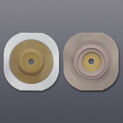 FlexWear Colostomy Barrier Trim to Fit, Standard Wear Tape 1-3/4 in Flange Green Code Hydrocolloid Up to 1 in Stoma