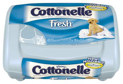 Flushable Personal Wipe Cottonelle Fresh Care Tub Water / Sodium Chloride / Sodium Benzoate Scented 42 Count