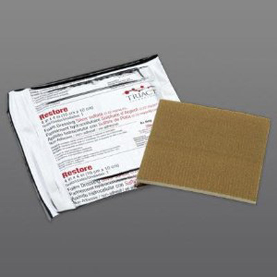 Foam Dressing with Silver Restore 6 X 8 Inch Rectangle Sterile