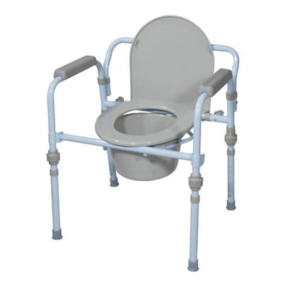 Drive Medical Folding Bedside Commode with Bucket and Splash Guard Model rtl11148kdr