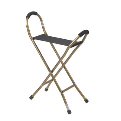 Drive Medical Folding Lightweight Cane with Sling Style Seat Model rtl10360