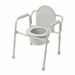 Drive Medical Folding Steel Bedside Commode 11148-1