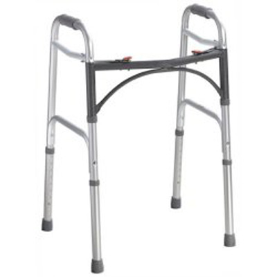 Folding Walker Adult McKesson Aluminum 350 lbs. 32 to 39 Inch