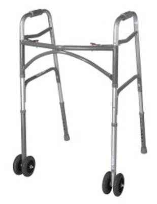 Folding Walker Adult McKesson Steel 500 lbs. 32 to 39 Inch