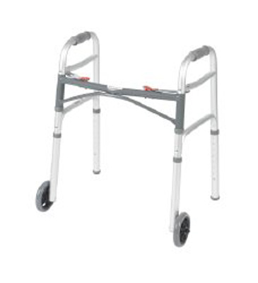 Folding Walker Junior McKesson Aluminum 350 lbs. 25 to 32.25 Inch