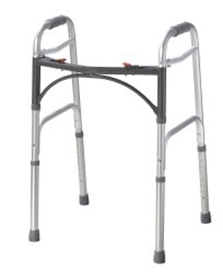 Folding Walker Junior McKesson Aluminum 350 lbs. 25 to 32 Inch