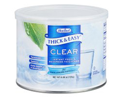 Food and Beverage Thickener Thick & Easy 4.4 oz. Canister Unflavored Powder Varies By Preparation