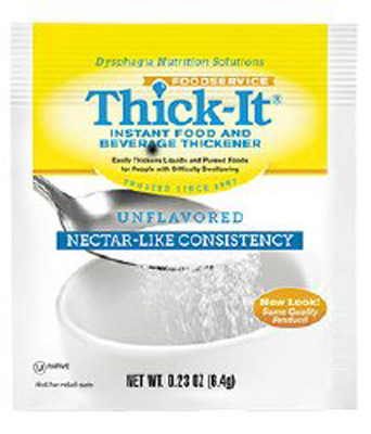 Food and Beverage Thickener Thick-It 4.8 Gram Individual Packet Unflavored Powder Nectar