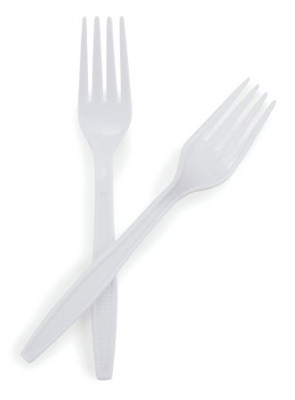 Fork McKesson General Purpose White Polypropylene